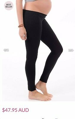maternity leggings- Trimester™ - Oasis Long Maternity Leggings in Black - Sz S