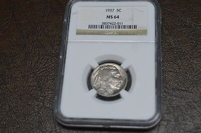 1937 5 c buffalo nickel ms 64