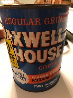 Vintage Maxwell House Coffee Can 2 pounds