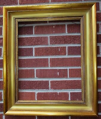 Vintage MODERN Deep COVED Gilt GOLD WOOD Picture FRAME 16 x 20 in. fit c1970-80s