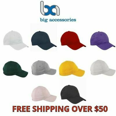 278486cf0a2eea Big Accessories 6-Panel Cotton Twill Unstructured Low Profile Cap 11 Color  BX880