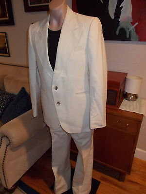Vintage 70's Jupiter Suit Made In France Amazing Condition Size 40 Disco Bells!!