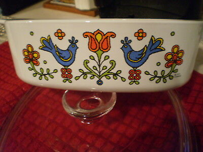 Corning Ware Country Festival A-2-B 2 Quart Casserole Baking Dish w/Lid 1975 VGC