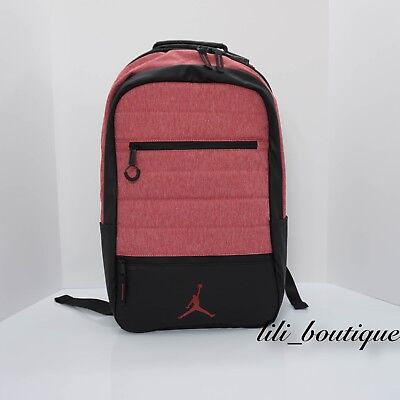 21564c97f14 NWT Nike Air Jordan 9A1944-R79 Airborne Laptop Backpack Gym Red Heather  Black 65