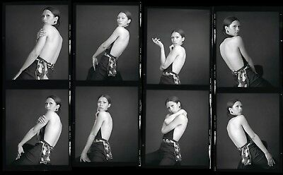 4 RISQUE vintage 1970s negatives, MARVELOUS YOUNG MOD GLAMOUR BEAUTY #83