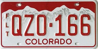 USA Number Licence Plate COLORADO FLEET VEHICLE
