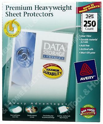 Avery 250 ct. Sheet Protectors Clear Top Load 76006 Acid Free Sealed Package New