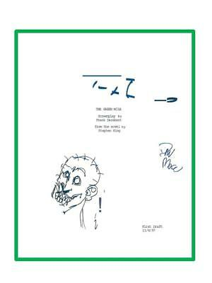 The Green Mile Movie Script Signed Tom Hanks  David Morse  Frank Darabont