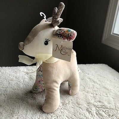 Maison Chic Tooth Fairy Pillow NEW Child Girl Baby Gift Cute Farrah Fawn Deer