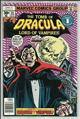 Tomb Of Dracula #55 1977 Possibly The Greatest Dracula Story Ever! Sharp Vg/fn