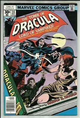 The Tomb Of Dracula #56 1977 The Most Frightening Novel Ever Written! Vg+