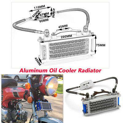 Motorcycle CNC Oil Cooler Radiator Fit For 50 70 90 110CC Dirt Pit Bike Racing
