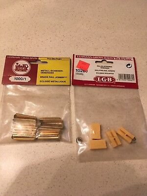 LGB Lehmann Gross Bahn # 1000/1 And # 10260 Rail Joiners Brass And Isolating New