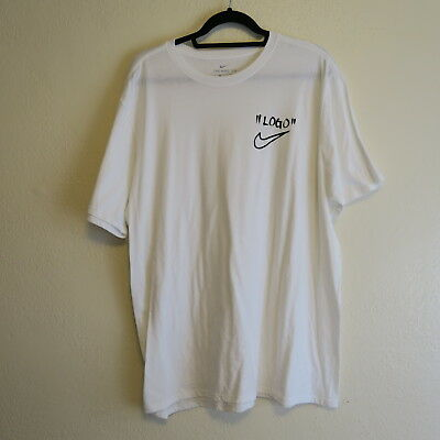 12197c55 RARE NIKE X OFF WHITE CAMPUS TEE T SHIRT LOGO VIRGIL ABLOH THE TEN XL X