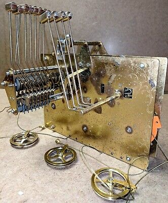 Vintage FRANZ HERMLE Black Forest 1161-853 94cm Grandfather Clock MOVEMENT Cable