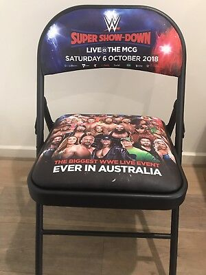 WWE Wrestling Super Show-Down Official Ringside Chair Melbourne Brand New