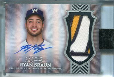2017 Topps Dynasty  Auto Patch Ryan Braun  Milwaukee Brewers #d 04/10