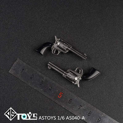 "ASTOYS AS040A 1//6 Black Colt P18520 Revolver Gun Weapon Model Toys F 12/"" Figure"