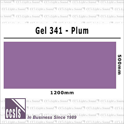 Clear Color 341 Filter Sheet - Plum
