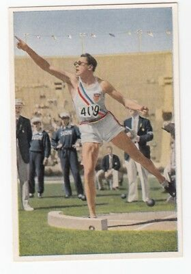 1932 Olympics Card WILLIAM CHARLES USA Hall of Fame Famous American Indians