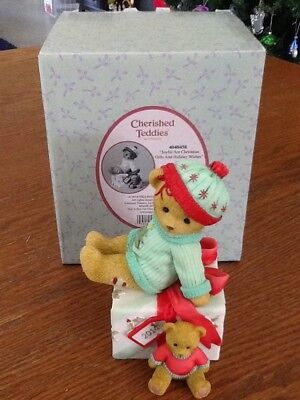 "Cherished Teddies Debbi ""Joyful are Christmas Gifts and Holiday Wishes"""