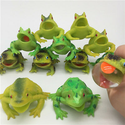 Fun Frog Toad Relieve Stress Squeeze Relief Anxiety Kids Adult Toy Decor Charm