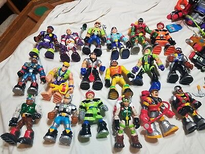 HUGE Fisher Price Rescue Heroes 18 Figure Lot Tons of Accessories Voice Tech