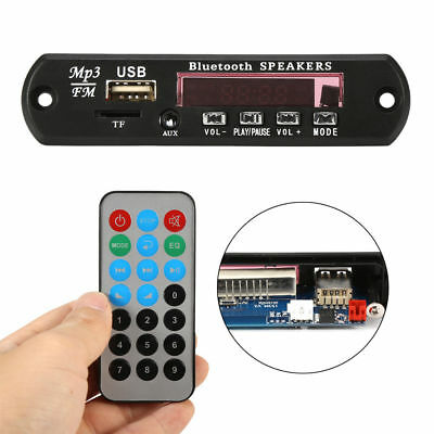 12V Bluetooth Module MP3/WMA/WAV decoder board Digital LED player FM radio car
