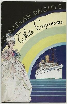 "1937 Canadian Pacific ""Empress of Britain"" Steamship Cruise Booklet"