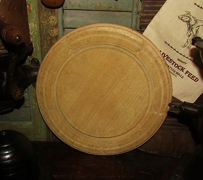 """Antique Vtg 11"""" Carved Wood Bread Cheese Chopping Cutting Board Great Xmas Gift"""