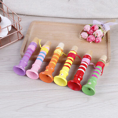Baby wooden flute whistle toys educational toys kids musical instrument GY