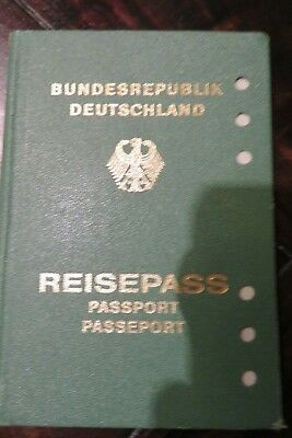 Germany passport green many visa from Africa and Bahrain  1976