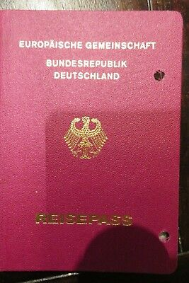 Germany passport red issued 2000 no visas