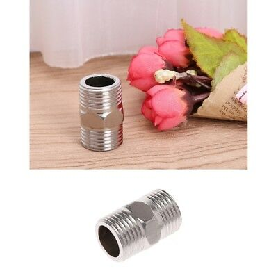 "1/2"" Male x 1/2"" Male Hex Nipple Stainless Steel SS304 Threaded Pipe Fitting NPT"