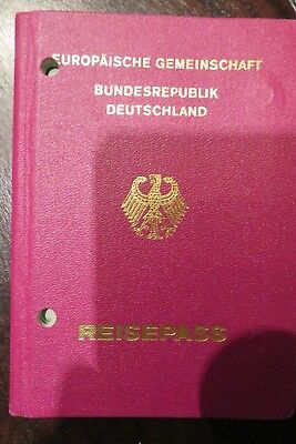 Germany passport red issued 1990, see visa stamps