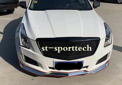 chrome For Cadillac ATS 2015-2018 ABS Front Bumper Molding Cover Trim 3PCS