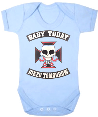 BABY TODAY BIKER TOMORROW   New Born Baby Romper Bodysuits Jumpsuits One Piece