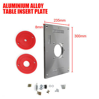 UK Aluminum Router Table Insert Plate With Ring For Woodworking 235 x 300 x 8mm