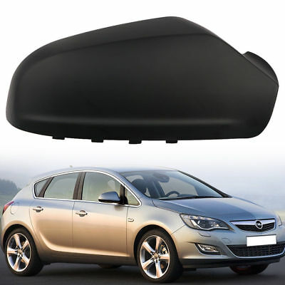 Right O/S Door Wing Mirror Cover Painted Black For Vauxhall Astra H 2005-2009