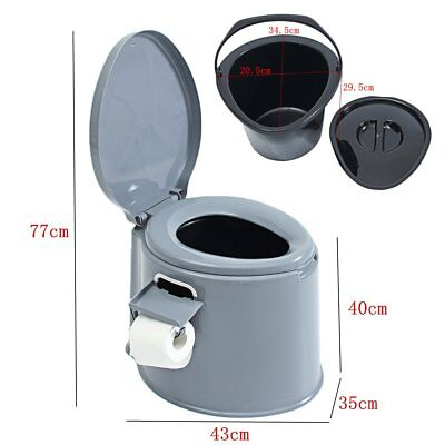 1.32-Gallon 5L Portable Toilet Flush Travel Camping Hiking Outdoor Indoor Potty