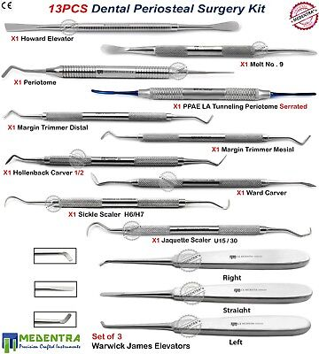 MEDENTRA® Dental Periosteal Surgical Tooth Gum Surgery Implant Instruments Kit