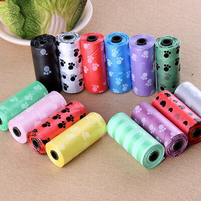 10Roll 150PCS Pet Dog Waste Poop Bag Poo Printing Degradable Clean-up Plastic