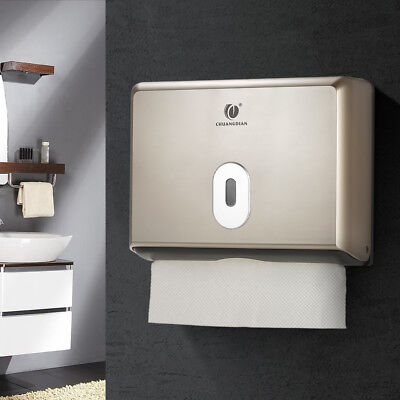 CHUANGDIAN Wall-Mounted Office Hotel Bathroom Tissue Dispenser Box Holder L4A4