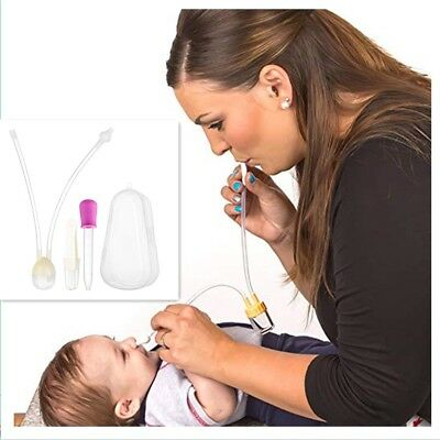 Infant Nasal Aspirator Vacuum Sucker Silicone Kid Nose Mucus Snot Cleaner New