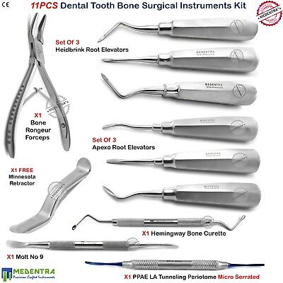 Bone Orthopedic Dental Veterinary Surgery Root Elevators Forceps Instruments Lab