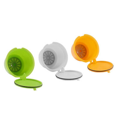 3Pcs Reusable Coffee Filters Capsule Refillable Compatible Nescafe Dolce Gusto