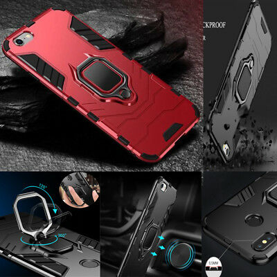 For Galaxy Heavy Duty Hybrid Shockproof 360° Rotation Kickstand Ring Case Cover