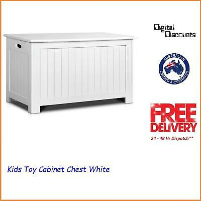 Kids Toy Cabinet Chest White