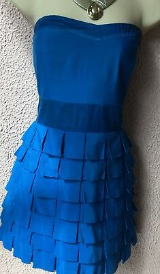 ROBE BLEUE NEW Look Taille 44 - Voile Longue Arriere - Chaine Pensez ... 94566ad1ad4d