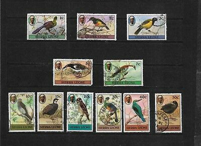 Sierra Leone, 1980 Birds (no imprint date) complete used to 50c (7423)